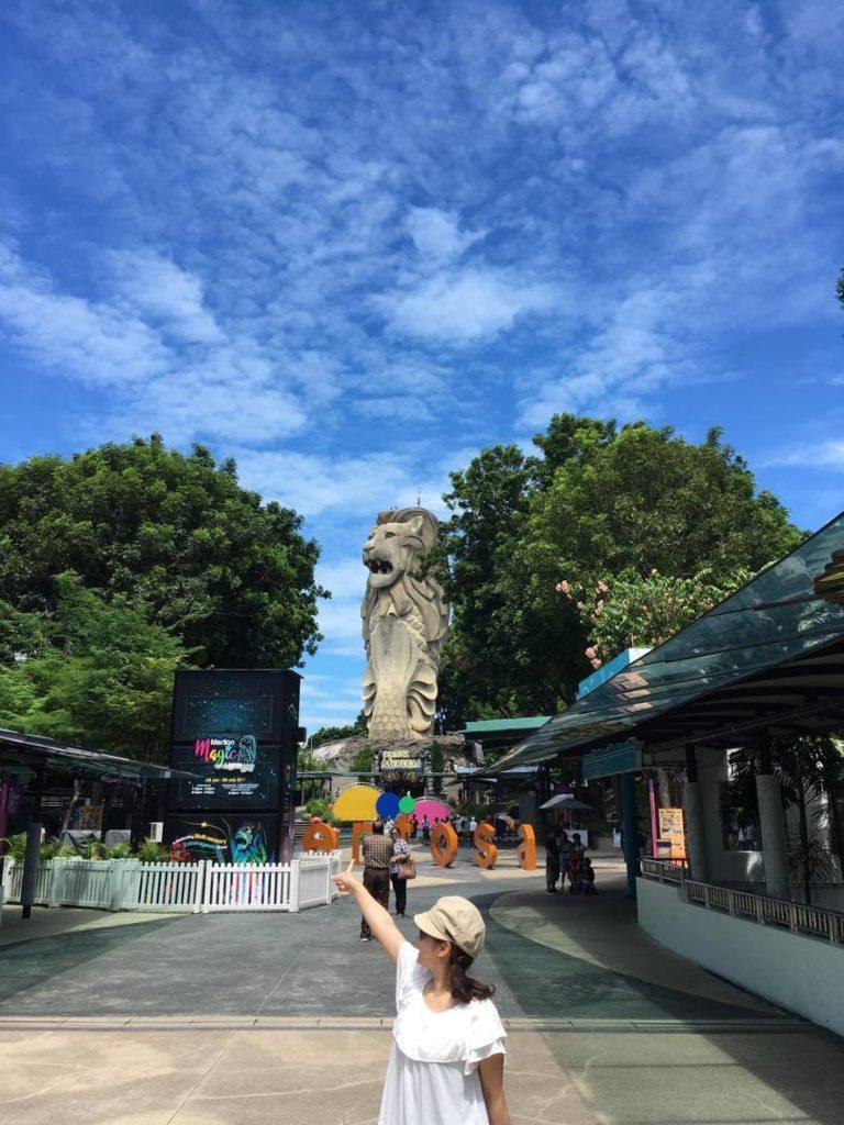 マーライオンパーク シンガポールの大きさに癒されるひと時