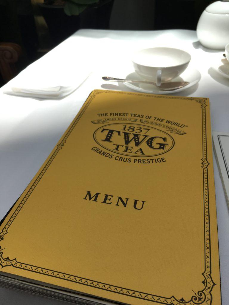 TWG!シンガポールの高級紅茶カフェに行ってみた。