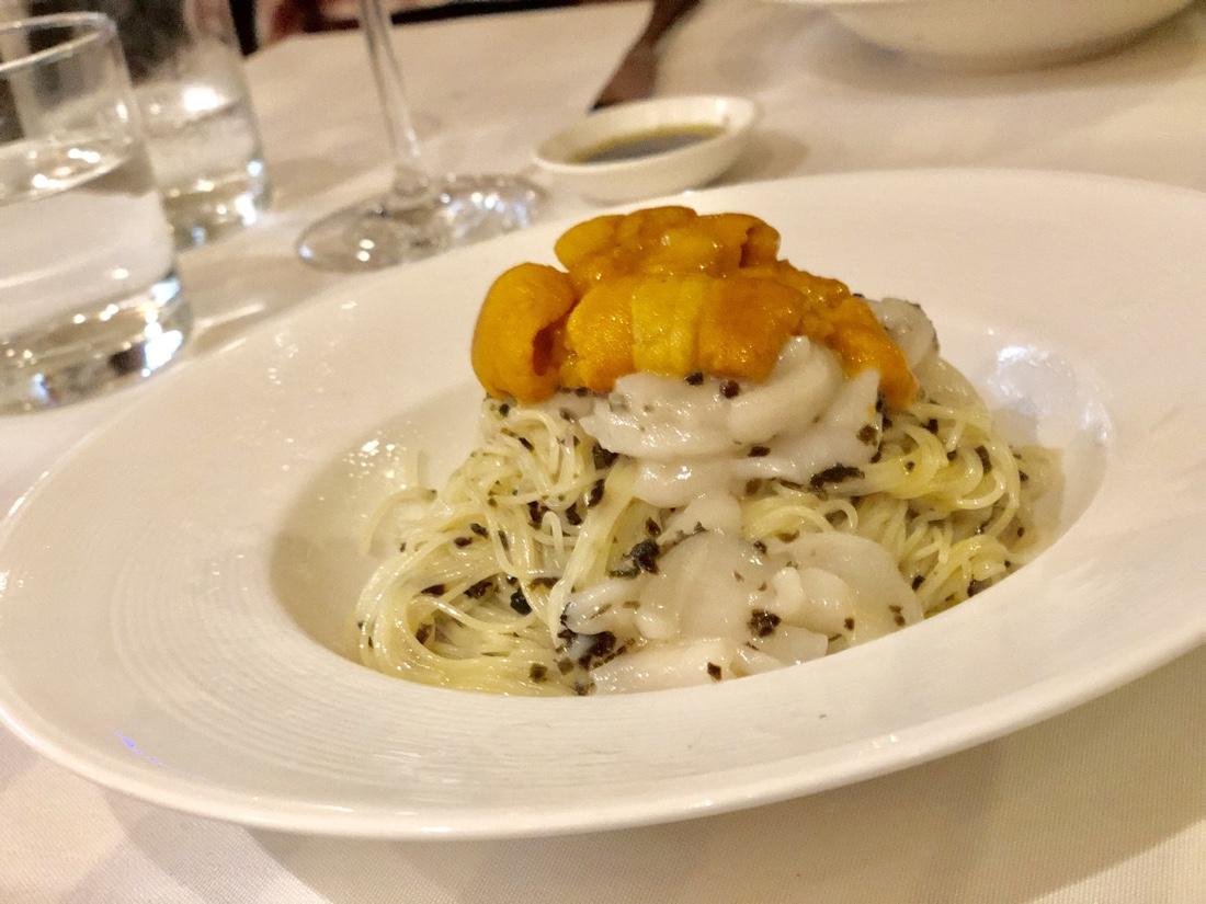 ウニとホタテとトリュフの冷製パスタが美味しすぎて、無口になる件 Da Luca